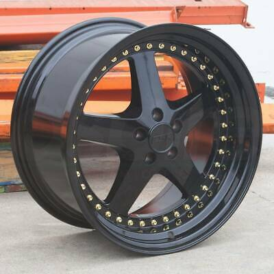 18x8.5/18x9.5 ESR SR04 SR4 5x114.3 30/35 Gloss Black Wheels Rims Set(4)