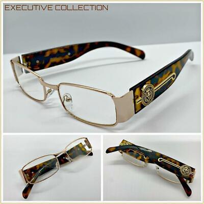 Men Classy Exotic Elegant Retro Style Clear EYE GLASSES Gold Metal Fashion (Glass Frames Men)