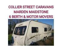 2007 6 berth caravan Bailey senator carolina + movers