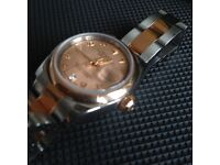 Rolex Ladies Datejust 2008 M 179161 18k Two Tone Pink/Rose Gold MOP Diamond Dial