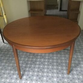 Teak extendable dining table. Seats 4 - 6. Excellent condition