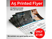 ***Printed 100 A5 Flyers*** Full Color-Eye Catching- Call Us Today