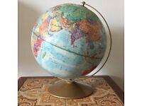 Vintage Retro Replogle 12in World Globe