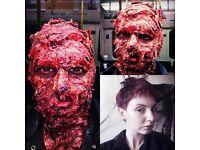PRO makeup artist for Halloween!!! Halloween,makeup, body painting,cuts,scar