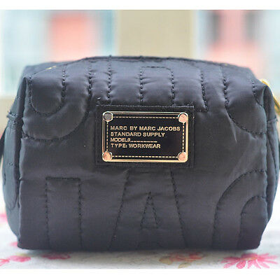 Hot Sale Marc by Marc Jacobs Nylon Casual Clutch Handbag Black Cosmetic Bag
