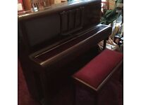 MONINGTON AND WESTERN UPRIGHT IRON FRAME PIANO