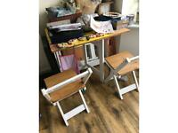 Folding table 4 chairs
