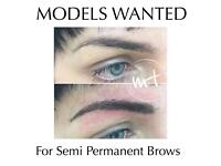 MODELS WANTED for Semi Permanent Brows