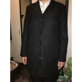 Long women's suit with pants