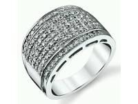 Sterling Silver Men's Wedding Ring