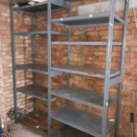 dextons metal garage shelves
