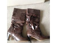 Brown boots size 6