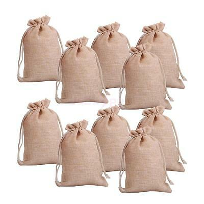 Favor Bags (lot of 25 50 100 Wedding Hessian Burlap Jute Favour Gift Bags Drawstring)