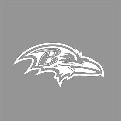Baltimore Ravens NFL Team Logo 1 Color Vinyl Decal Sticker Car Window Wall (Baltimore Ravens Dekorationen)
