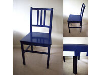 HABITAT Blue Boy's Bedroom Room Study Desk Office Dining Designer Conran Chair £35