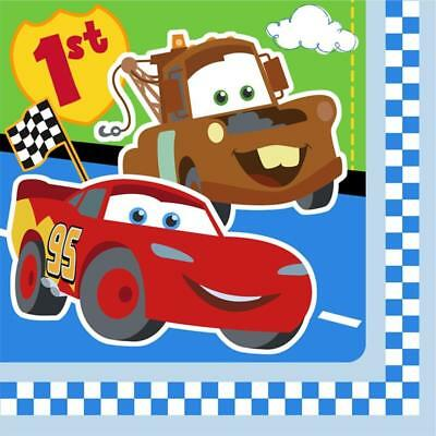 Disney Cars 1st Birthday Lunch Napkins 16 Per Package Party Supplies NEW