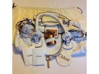 Designer CHLOE PADDINGTON BAG Winter white leather