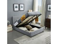 ☀️☀️HIGH QUALITY☀️☀️PLUSH VELVET FABRIC LUCY DOUBLE BED FRAME WITH MATTRESS OPTION