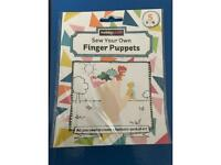 Sew your own dinosaur finger puppets craft kit