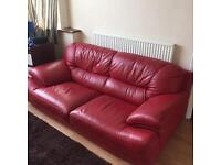 Two seat leather sofa £60