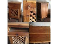 1 x bedside table drawer bathroom cupboard side cupboard hardwood