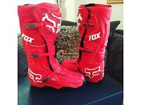Fox comp 8 brand new size uk 10 red motocross boots mx
