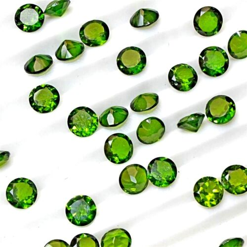 Wholesale Lot 2mm to 4mm Round Faceted Chrome Diopside Loose Calibrated Gemstone