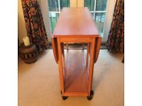 Wooden foldable dining table with 4 chairs,can deliver.