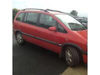 Vauxhall Zafira parts