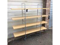 IKEA ENETRI Shelving Unit Book Shelf Freestanding Silver Metal and Wood