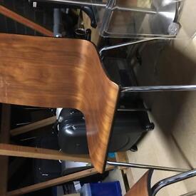 2 Dark Wooden Chairs