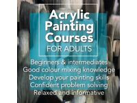 NEW London Acrylic Painting Courses starting in June 2018 - Tutor: Monica Chrys