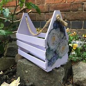 Garden crate/ homemade/ decoupage