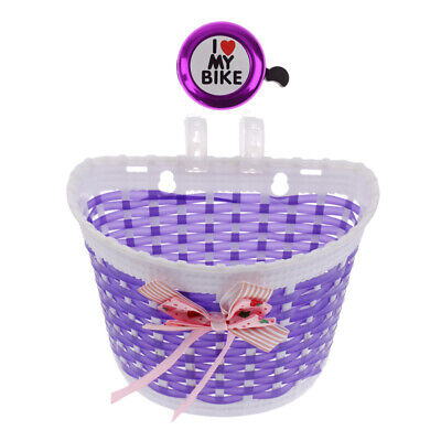 Kinder Fahrrad Klingel Hupe mit Fahrrad-Korb für Mädchen Rad - Lila