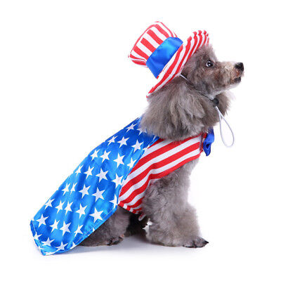 Easy Halloween Dog Costumes (Dog USA Flag Clothes - Pet Comfortable Male Coat - Halloween Xmas)