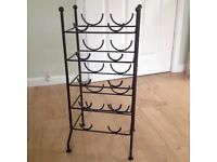 Wine rack in black metal