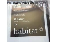 """HABITAT ALUMINUS 40 X 40cm/ 16 X 16"""" Black Metal Picture RRP £25"""