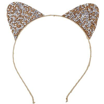 Lux Accessories Gold Tone Cat Ear Halloween Costume Accessory Headband For Kids](Cat Accessories Halloween Costume)