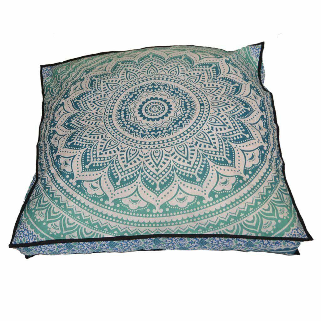 "35"" Puff Mandala Floor Pillow Cushion Seating Throw Cover Ho"