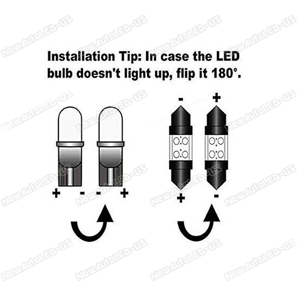 21x white led lights package kit   reverse lights for 2011