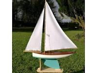 Vintage Pond Yacht Model Sailing Boat