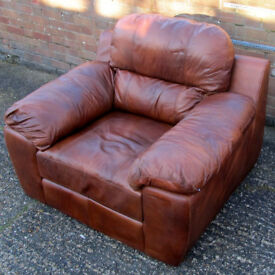 Brown Leather Armchair (Barnet, North London) Original Price £499 Club Chair