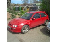 MG Zr 2003, red, MOT to Sep 2018.