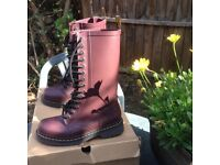 Dr. Martens boots in Cherry