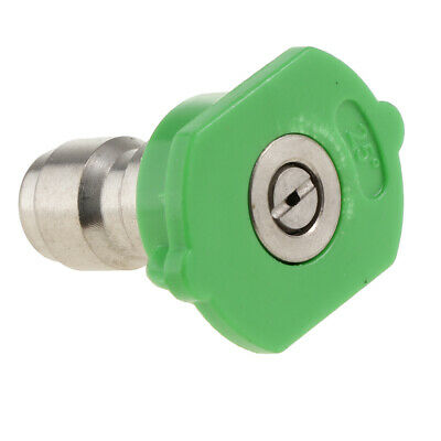 Pressure Washer Tips Spray Nozzle Part 25 Degrees Power Washing Tools Green.
