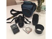 Nikon d3100 dslr with 2 lenses and carry bag
