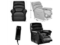 Warwick Black Real Leather Power Electric Rise/Recliner Chair Remote BRAND NEW BOXED CAN DELIVER