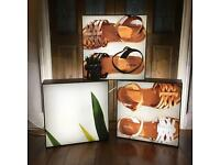 3x KENDU Quality Retail Display Lightboxes LED