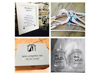 Wedding items - hangers, message in a bottle, personalised gifts