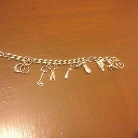 Charm bracelet sterling silver